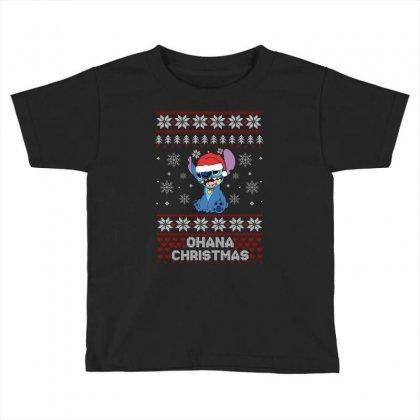 Ohana Christmas Stitch Toddler T-shirt Designed By Sengul