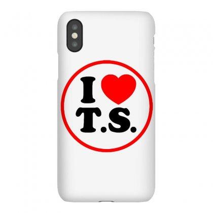 I Love Ts - Taylor Swift Black Logo Iphonex Case Designed By Meza Design