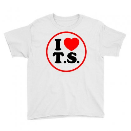 I Love Ts - Taylor Swift Black Logo Youth Tee Designed By Meza Design