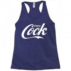 enjoy cock coca cola parody Racerback Tank | Artistshot