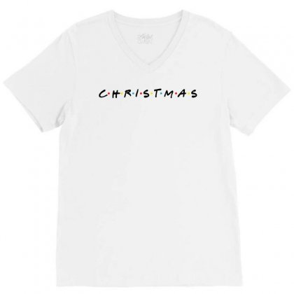 Friends Tv Show Parody Christmas V-neck Tee Designed By Sengul