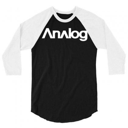 Analog White Logo 3/4 Sleeve Shirt Designed By Black White