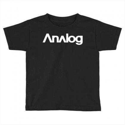 Analog White Logo Toddler T-shirt Designed By Black White