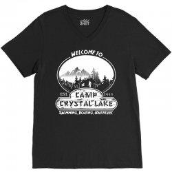 camp crystal lake est 1935 V-Neck Tee | Artistshot