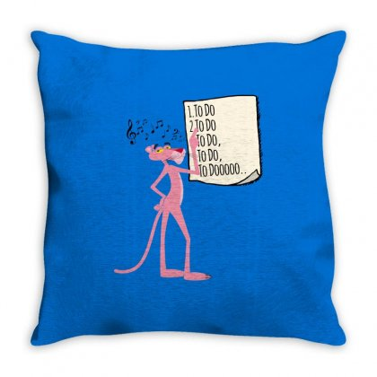 Pink Panther List Throw Pillow Designed By Sengul
