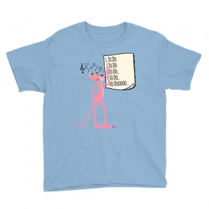 Pink Panther List Youth Tee Designed By Sengul