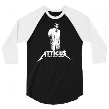 To Kill A Mockingbird Atticus 3/4 Sleeve Shirt Designed By Printshirts