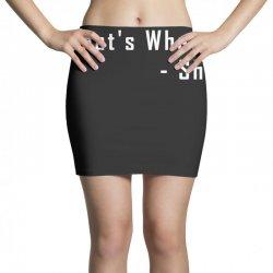 that's what she said quote white logo Mini Skirts | Artistshot
