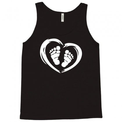 Feet In Heart Tank Top Designed By Printshirts