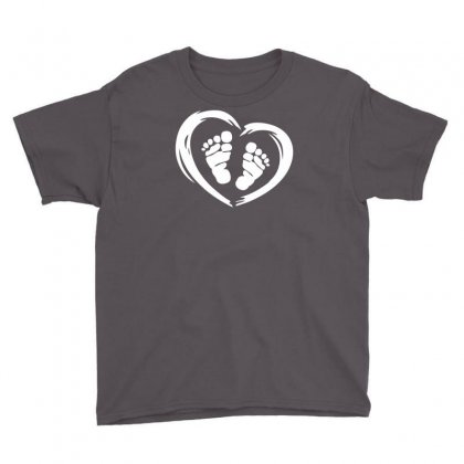 Feet In Heart Youth Tee Designed By Printshirts