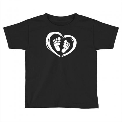 Feet In Heart Toddler T-shirt Designed By Printshirts