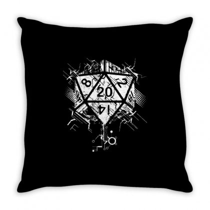 Dungeons And Dragons Dice Art Throw Pillow Designed By Sbm052017