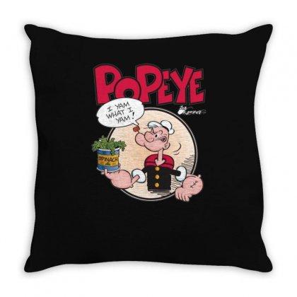 Popeye, Ideal Gift Or Birthday Present Fuuny Throw Pillow Designed By Mdk Art