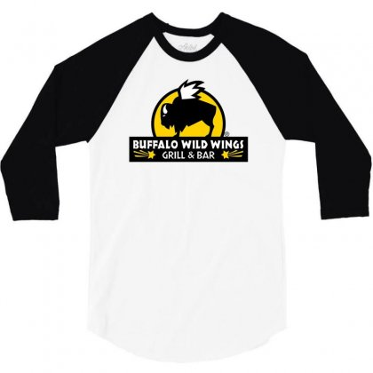 Buffalo Wild Wings 3/4 Sleeve Shirt Designed By Mdk Art