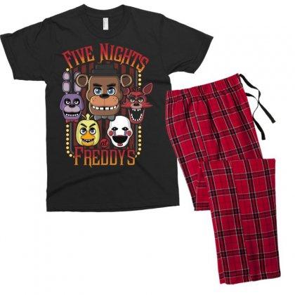 Five Nights At Freddy's Men's T-shirt Pajama Set Designed By Mdk Art