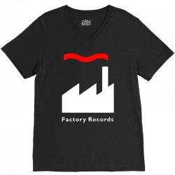 factory records   retro record label   mens music V-Neck Tee | Artistshot