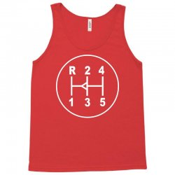 sports car gear knob, transmission shift pattern Tank Top | Artistshot