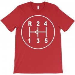 sports car gear knob, transmission shift pattern T-Shirt | Artistshot