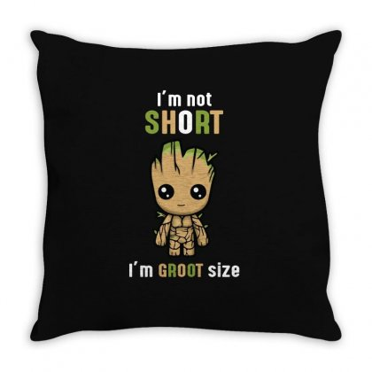 Groot Size Throw Pillow Designed By Wizarts