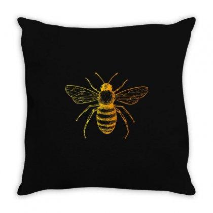 Bee Throw Pillow Designed By Zeynepu