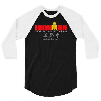 Ironman Triathlon World Championship 3/4 Sleeve Shirt Designed By Mdk Art