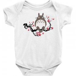 totoro sitting cherry blossom tree Baby Bodysuit   Artistshot
