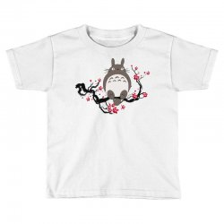 totoro sitting cherry blossom tree Toddler T-shirt   Artistshot