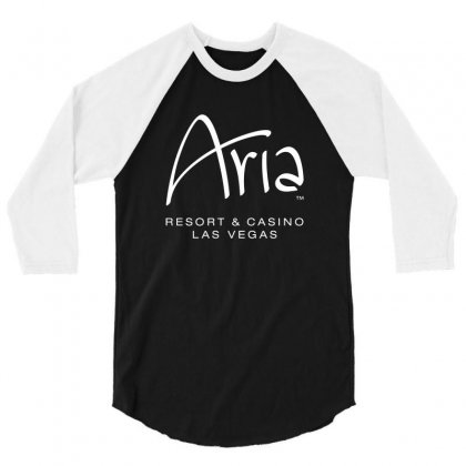 Aria Resort And Casino Las Vegas 3/4 Sleeve Shirt Designed By Yellow Star