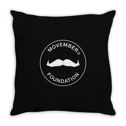 Movember Foundation Throw Pillow Designed By Yellow Star