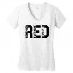 remember everyone deployed Women's V-Neck T-Shirt | Artistshot
