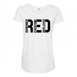 remember everyone deployed Maternity Scoop Neck T-shirt | Artistshot