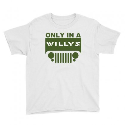Jeep Willys Youth Tee Designed By Ewanhunt