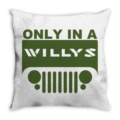 Jeep Willys Throw Pillow Designed By Ewanhunt