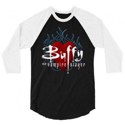 Buffy The Vampire Slayer 3/4 Sleeve Shirt Designed By Ewanhunt