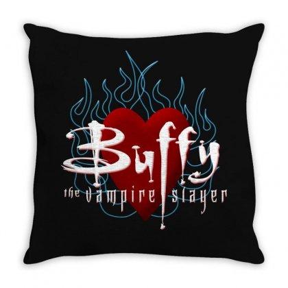 Buffy The Vampire Slayer Throw Pillow Designed By Ewanhunt