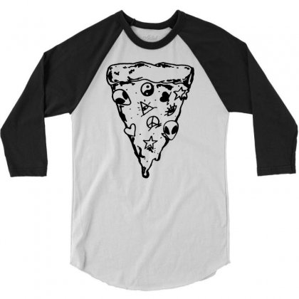 90s Pizza Slice 3/4 Sleeve Shirt Designed By Suarepep