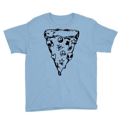 90s Pizza Slice Youth Tee Designed By Suarepep