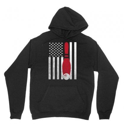 Bowling Bowler - America Usa Flag Unisex Hoodie Designed By Rardesign