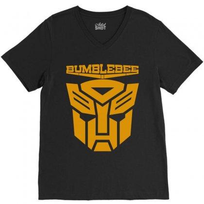 Bumblebee Transformer V-neck Tee Designed By Allentees