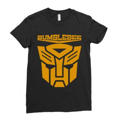Bumblebee Transformer Ladies Fitted T-shirt Designed By Allentees