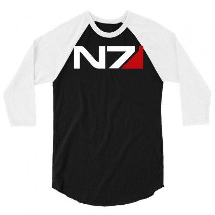 Mass Effect N7 Logo 3/4 Sleeve Shirt Designed By Mdk Art