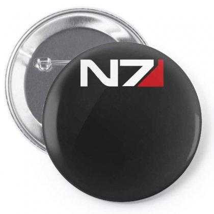 Mass Effect N7 Logo Pin-back Button Designed By Mdk Art