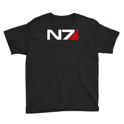 Mass Effect N7 Logo Youth Tee Designed By Mdk Art