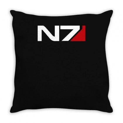 Mass Effect N7 Logo Throw Pillow Designed By Mdk Art