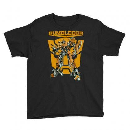 Bumblebee Transformer Youth Tee Designed By Allentees