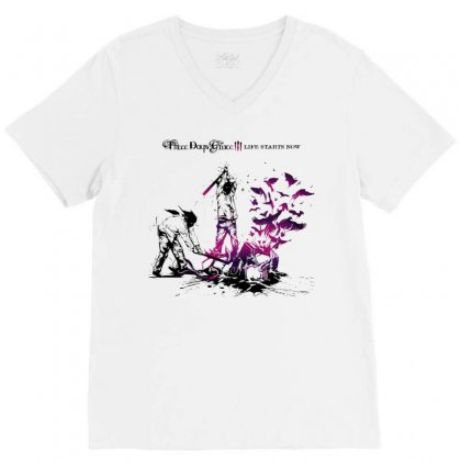Three Days Grace V-neck Tee Designed By Allentees