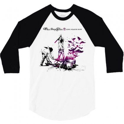 Three Days Grace 3/4 Sleeve Shirt Designed By Allentees