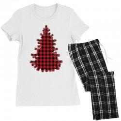 christmas tree red lumberjack Women's Pajamas Set   Artistshot