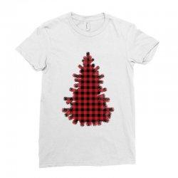 christmas tree red lumberjack Ladies Fitted T-Shirt   Artistshot