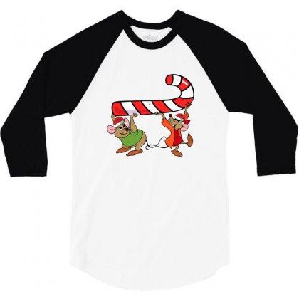 Jaq And Gus Christmas Sugar 3/4 Sleeve Shirt Designed By Sengul